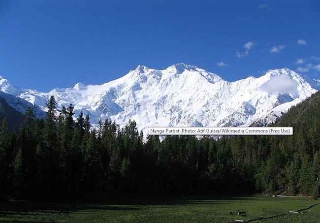 Nanga Parbat. Photo: Atif Gulzar/Wikimedia Commons (Free Use)