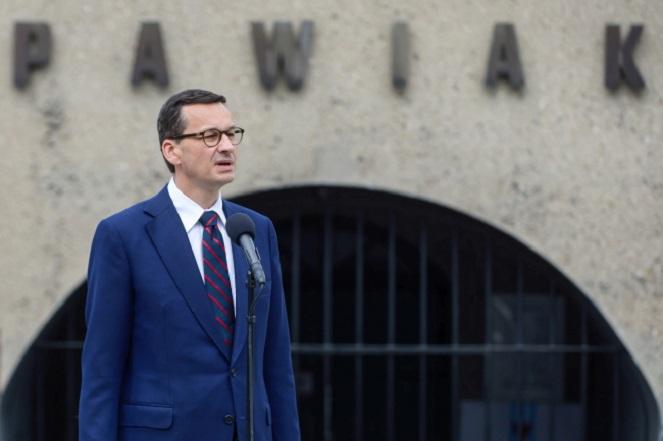 Варшава, 14.06.2018 г. Премьер-министр Матеуш Моравецкий в Музее тюрьмы Павяк.
