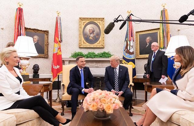 Президенты Анджей Дуда и Дональд Трамп с супругами в Белом доме, сентябрь 2018
