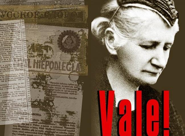 Вокладка кнігі Віктара Хурсіка пра Магдалену Радзівіл «Vale!»