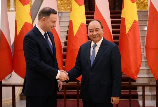 Polish President Andrzej Duda and Vietnamese Prime Minister Nguyen Xuan Phuc. Photo: PAP/Jacek Turczyk.
