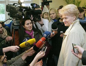Zweiter Tag der Polenvisite von Litauens Staatspräsidentin Dalia Grybauskaite
