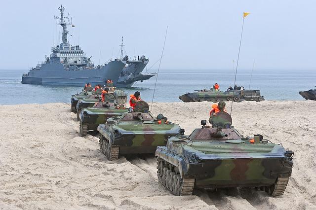 Военные учения на побережье Балтийского моря