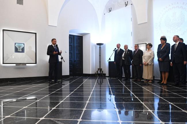 Президент Польщі Анджей Дуда у Залі Білого орла в Президентському палаці, 12 вересня 2018 року