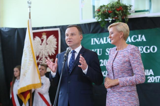 Президент Польщі Анджей Дуда з дружиною Аґатою Корнгаузер-Дудою