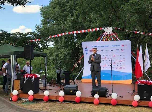 Открытие Польского олимпийского центра в Минске