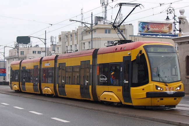 A Warsaw tram. Photo: Wikimedia Commons