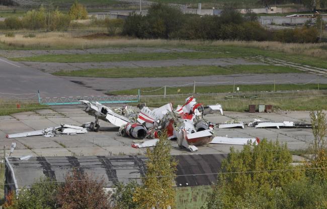 Уламки літака Ту-154М у Росії