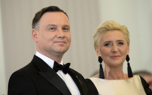 Staatspräsident Andrzej Duda mit Gattin Agata Kornhauser-Duda.