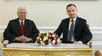 Rozmowy prezydentów Polski i Singapuru