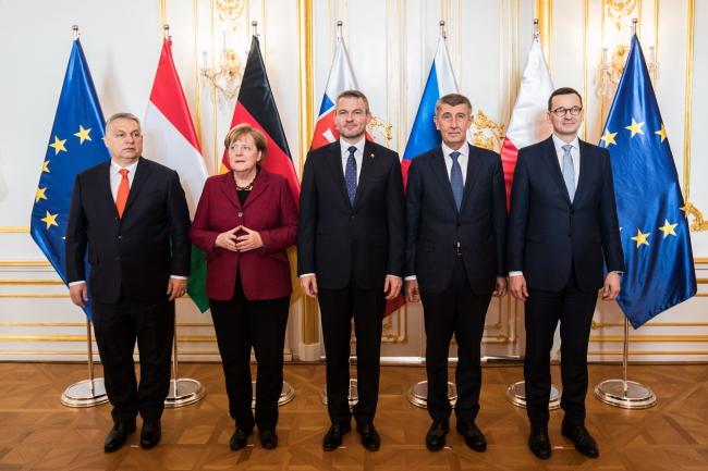 Саміт Вишеградської групи з участю канцлерки Німеччини Анґели Меркель, Братислава, 7 лютого 2019 року