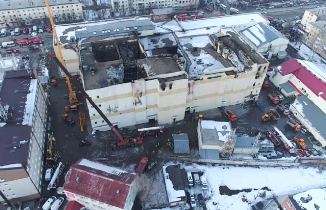 Торговий центр «Зимова вишня» у Кемерово після пожежі