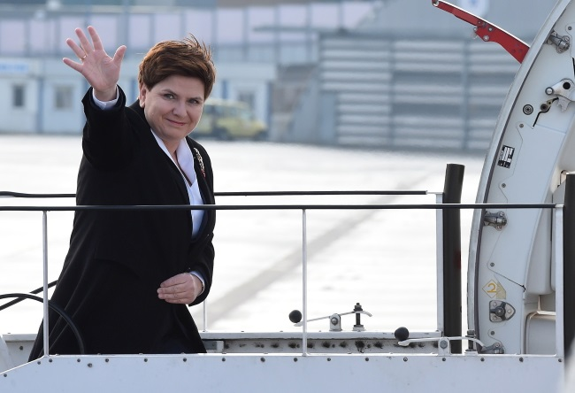 PM Beata Szydło heading off to Berlin. Photo: PAP/Radek Pietruszka