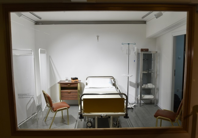 Replica of the room at the Gemelli clinic in Rome where Pope John Paul II was treated. Photo: PAP/Jacek Bednarczyk