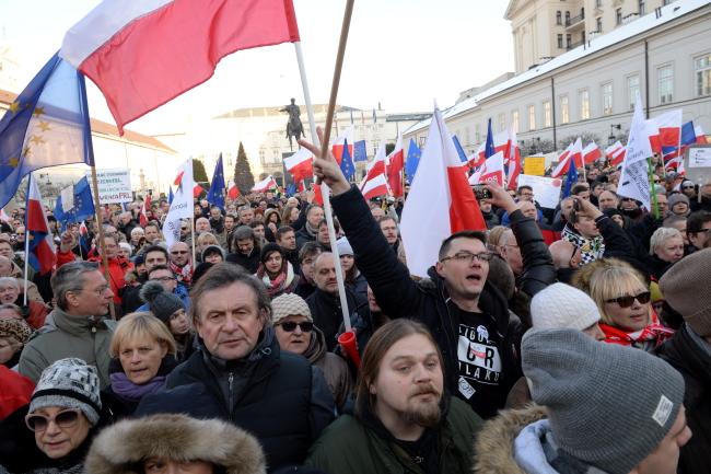 """Акция протеста """"На защиту твоей свободы"""" в Варшаве"""