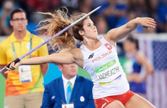 Poland's Maria Andrejczyk in action at Rio. Photo: PAP/Adam Warżawa