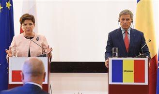 Polish PM Szydło in talks with Romanian counterpart Ciolos