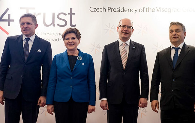 The leaders of the Visegrad Group. Photo: P. Tracz/ Chancellery of the Prime Minister of Poland/Public Domain