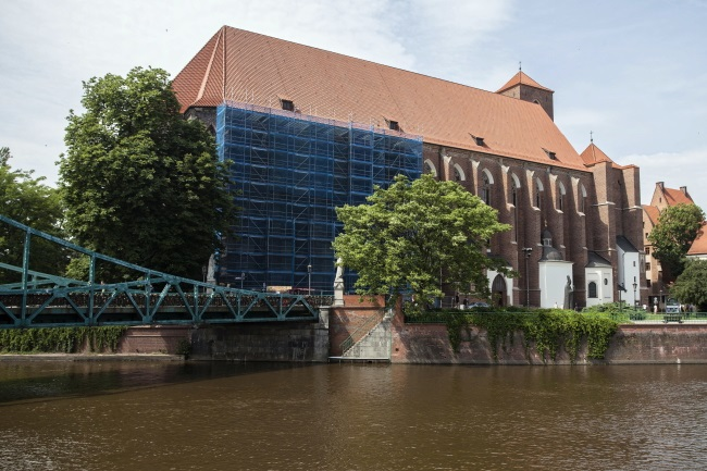 The Church of the Blessed Virgin Mary, the scene of the stabbing, in central Wrocław. Photo: PAP/Aleksander Koźmiński
