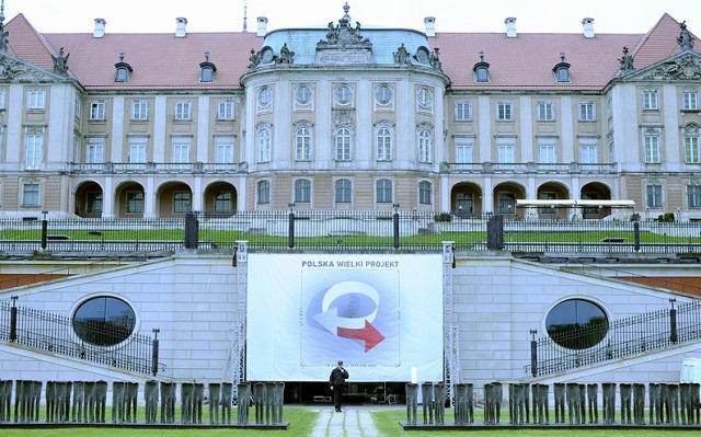 """Восточный фасад дворца Аркады Кубицкого, в котором проходит IX Конгресс """"Польша - большой проект"""""""