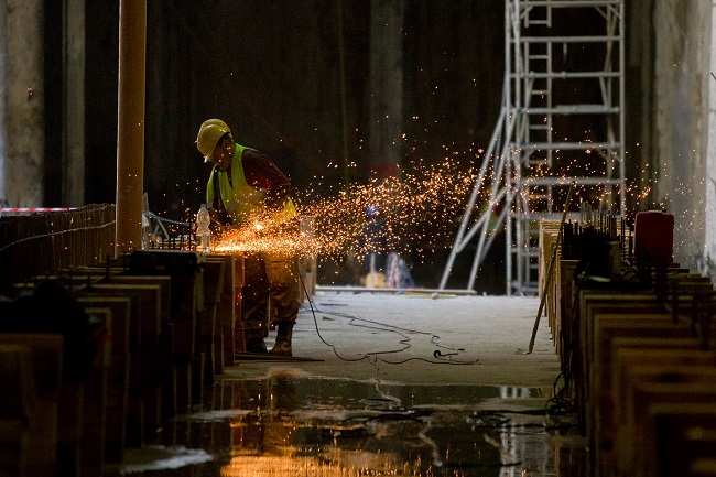Work on the Warsaw metro. Photo: Facebook/Metro Warszawskie.
