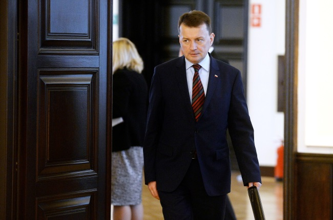 Mariusz Błaszczak. Photo: PAP/Bartłomiej Zborowski