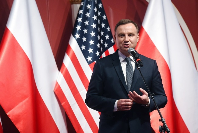 President Duda speaks at a meeting with Polish Americans in Wallington, New Jersey on Wednesday. Photo: PAP/Radek Pietruszka