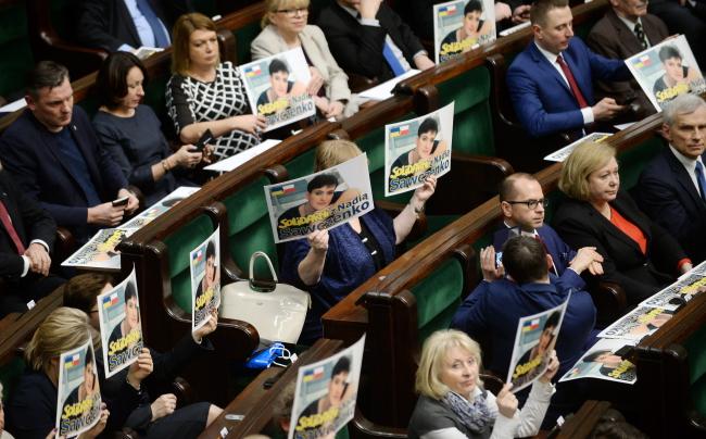 Сейм Польщі рішуче вимагає негайного звільнення Росією української льотчиці Надії Савченко та висловлює глибоке занепокоєння станом її здоров'я