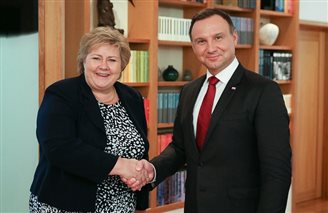 Poland's President and Norway's PM discuss ways for further cooperation