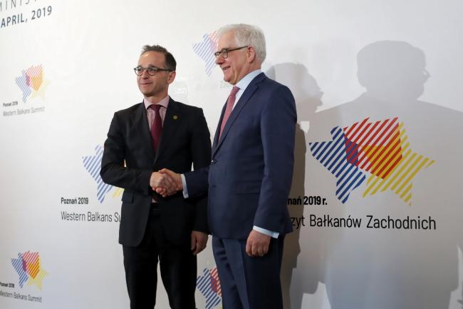 Главы МИД Германии и Польши Хайко Маас и Яцек Чапутович