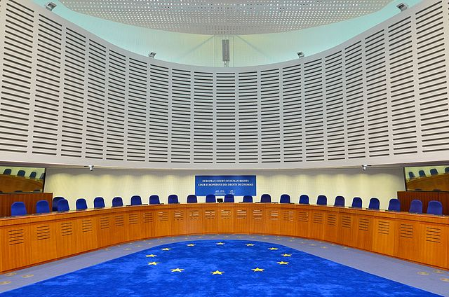 European Court of Human Rights courtroom. Photo: Wikimedia Commons/Adrian Grycuk.