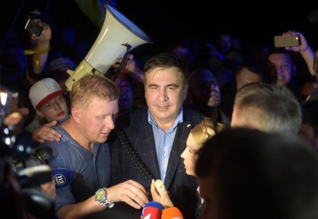 Mikheil Saakashvili Photo: EPA/MARKIIAN LYSEIKO.
