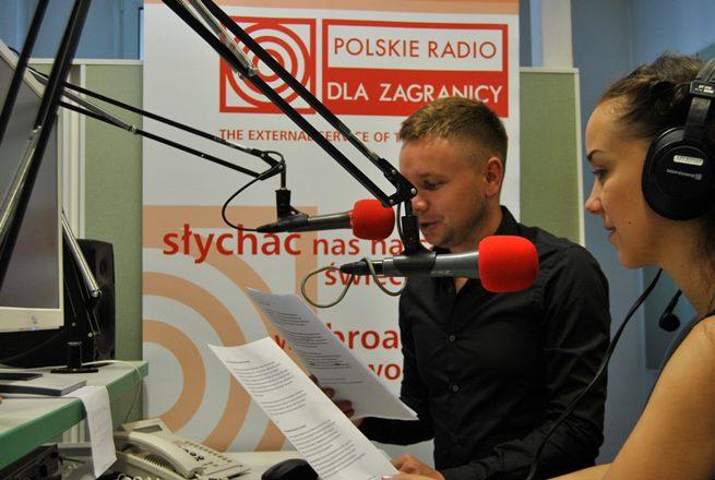 Karina Wysoczańska i Eugeniusz Sało, podczas szkoleń w Polskim Radiu dla Zagranicy