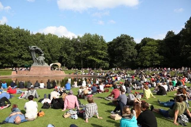 Es wird wieder musikalisch im Warschauer Lazienki- Park