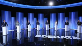 Candidates debate on TV prior to presidential elections