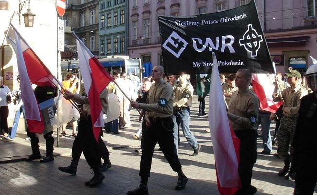 Members of the National Radical Camp taking part in a previous march in Krakow. Photo: wikimedia commons/efka de