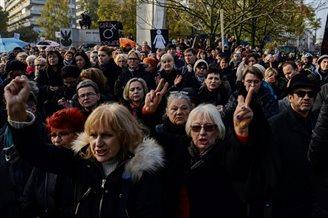 Women protest against discrimination