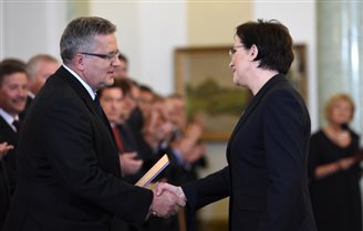 New government under PM Kopacz sworn in at Presidential Palace