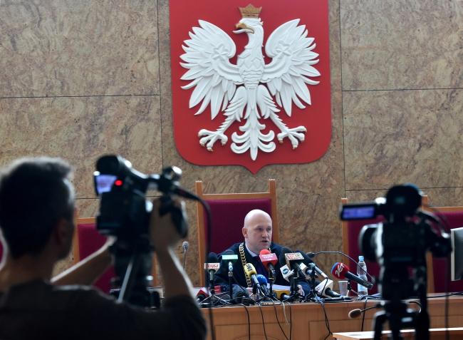 Judge Dariusz Mazur in court on Friday, Kraków. Photo: PAP/Jacek Bednarczyk