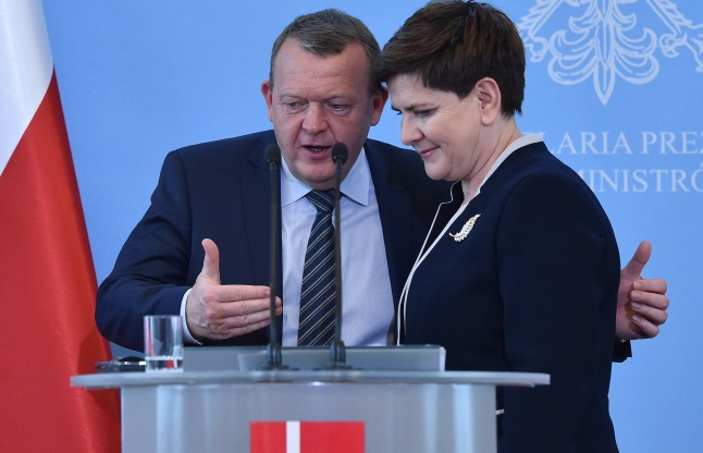 Lars Lokke Rasmussen and Beata Szydło. Photo: PAP/Radek Pietruszka
