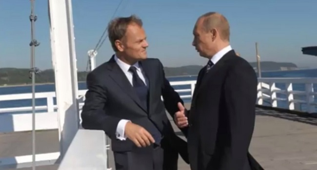 Дональд Туск і Владімір Путін