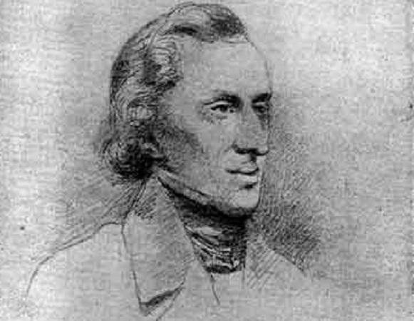 Chopins Portrait skizziert von Henri Lehmann, 1847