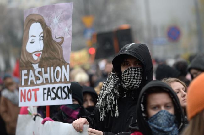 Protesters attending the anti-racism rally on Sunday. Photo: PAP/Bartłomiej Zborowski