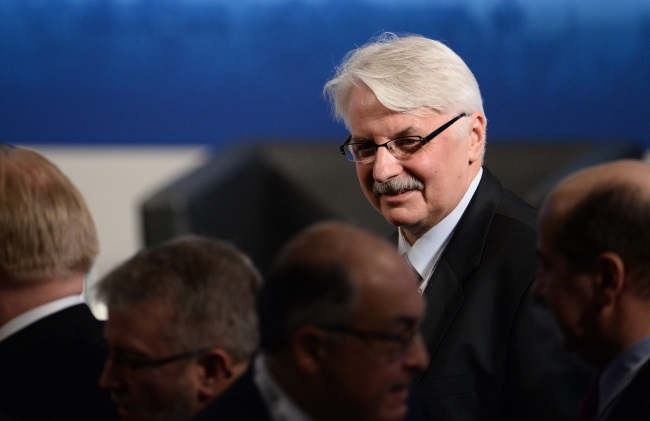 Polish Foreign Minister Witold Waszczykowski. Photo: EPA/ANDREAS GEBERT