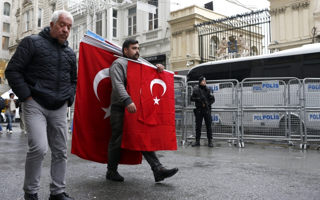 Біля консульства Нідерландів, Стамбул, Туреччина, 13 березня 2017 року