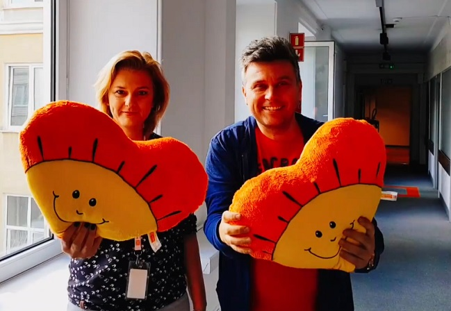 Monika Tarka and Robert Kilen, presenters of Polish Radio's Summer with the Radio programme.
