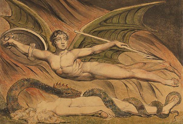 Вільям Блейк, «Сатана торжествує над Євою» (фрагмент)