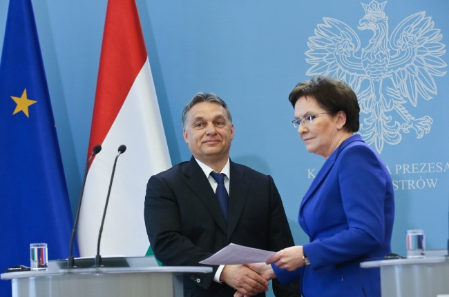 PM Ewa Kopacz met her Hungarian counterpart Vikotr Orban in Warsaw on Thursday. Photo: PAP/Rafał Guz