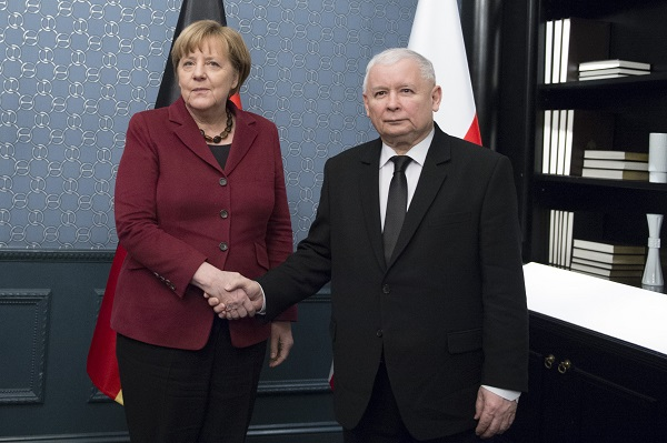German chancellor Angela Merkel and PiS Leader Jarosław Kaczyński. Photo: pis.org.pl