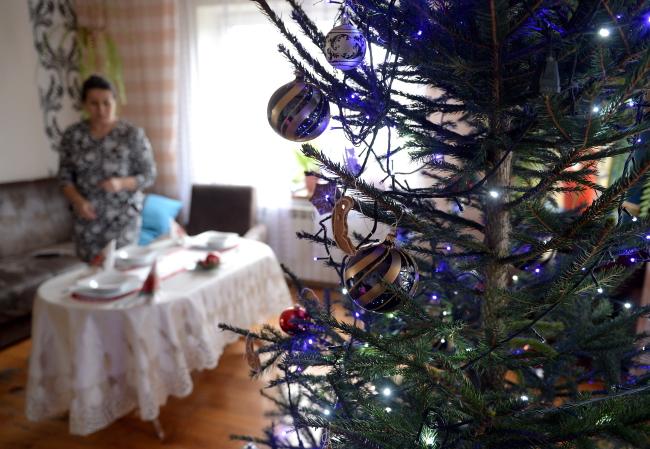 Ms Urszula traditionally decorates her Christmas table, Kosienice, the Podkarpacie region, south-eastern Poland. Photo: PAP/Darek Delmanowicz